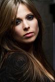 Face portrait of a beautiful woman — Stock Photo