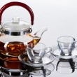 Teapot with cups — Stock Photo #8634335
