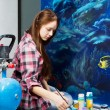 Young painter at work — Stock Photo
