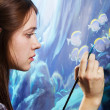 Young painter at work — Stock Photo #8725310