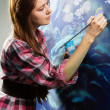 Young painter at work — Stock Photo #8725322