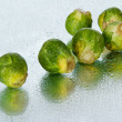 Royalty-Free Stock Photo: Brussels sprout on wet surface