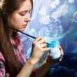 Young painter at work — Stock Photo #8881278