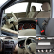 Collage of car interior details — Foto Stock