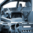 Collage of car interior details — Stock Photo #8881671
