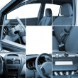 Collage of car interior details — Stock Photo #8881676