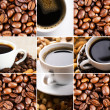 Coffee collage of cups - Stock Photo