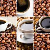 Coffee collage of cups — Stock Photo
