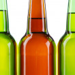 Beer bottles isolated on white background - Foto de Stock