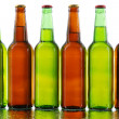 Royalty-Free Stock Photo: Beer bottles isolated on white background