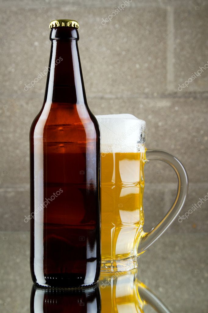 Beer still life, studio photo — Stock Photo #9280540
