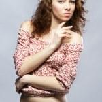 Beautiful red-haired model studio portrait — Stock Photo #9661148