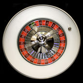 Roulette wheel and a ball — Stock Photo