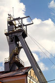 Coal mine headgear tower — Stock Photo