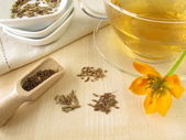 Fennel anise caraway tea — Stock Photo