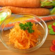 Stock Photo: Raw carrot mash for children