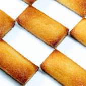Details of a french pastry, the financier — Stock Photo