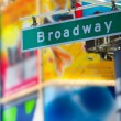 Broadway street sign — Stock Photo