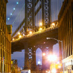 Manhattan Bridge Street view — Stock Photo