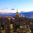 Manhattan skyline aerial panorama — Stock Photo #8871395