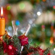 Candle on a New Year tree — Stock Photo #8242694