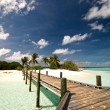 Jetty on a tropical beach — Stock Photo