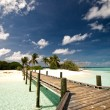 Stock Photo: Jetty on a tropical beach