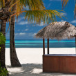 Stok fotoğraf: Beachbar on a tropical island