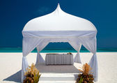 Wedding hut at the beach — Stock Photo