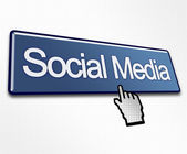 Large Blue Social Media Button — Stock Photo