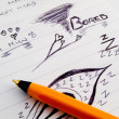 Doodle Sketch Lined Work Business Notepad — Stockfoto #9902364