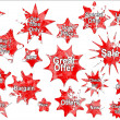 Red Christmas Special Offer Sales Stickers — Stock Photo