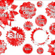 Red Christmas Special Offer Sales Stickers — Foto de Stock