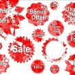 Stock Photo: Red Christmas Special Offer Sales Stickers