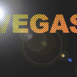 Dotted LED Lit Vegas Sign Glowing - Stock Photo