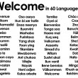Welcome written in 60 different languages — Stock Photo #9903066