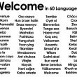 Welcome written in 60 different languages - Stock Photo