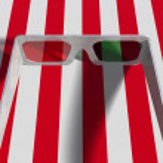 Pair of Plastic 3d Glasses — Stock Photo
