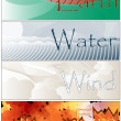 Постер, плакат: Four Elements Fire Earth Wind Water Banners
