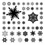 Snowflakes Silhouette on White — Stock Photo