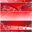 Five Snowflake Christmas Banners — Stock Photo