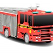 Stock Photo: Red Emergency Services Firetruck Fire Engine