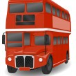 Stock Photo: Red London Routemaster Bus