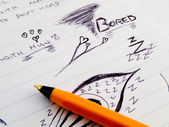 Doodle Sketch Lined Work Business Notepad — 图库照片