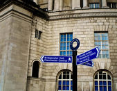 Manchester Signpost St Peters Square — Stock Photo