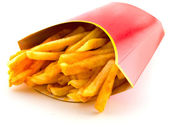 Salty Greasy French Freedom Fries — Stock Photo