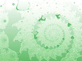 Light Green Smooth 2d Shallow Fractal Design — Stock Photo