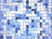 Abstracto azul cristal cuadrado bloquea fondo — Foto de Stock