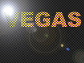 Dotted LED Lit Vegas Sign Glowing — Stock Photo