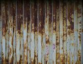 生锈的金属折叠门 — 图库照片
